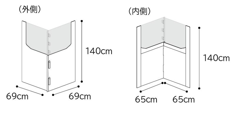 ディスカッション用パーテーションサイズ