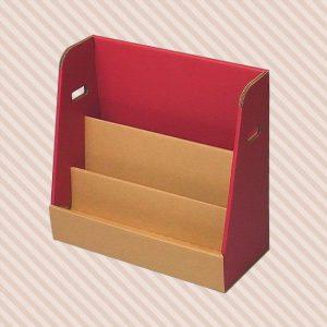 絵本ラックーダンボールでできた絵本用本棚です