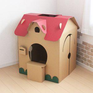 ダンボールハウスー子供のためのダンボールの家です