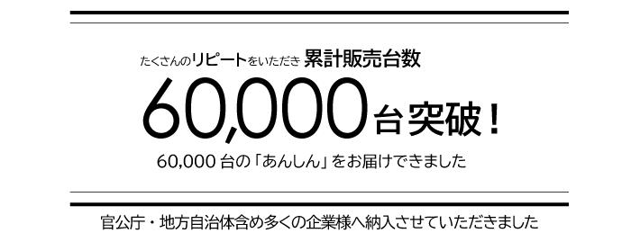 飛沫対策用パーテーション累計販売台数60000台突破